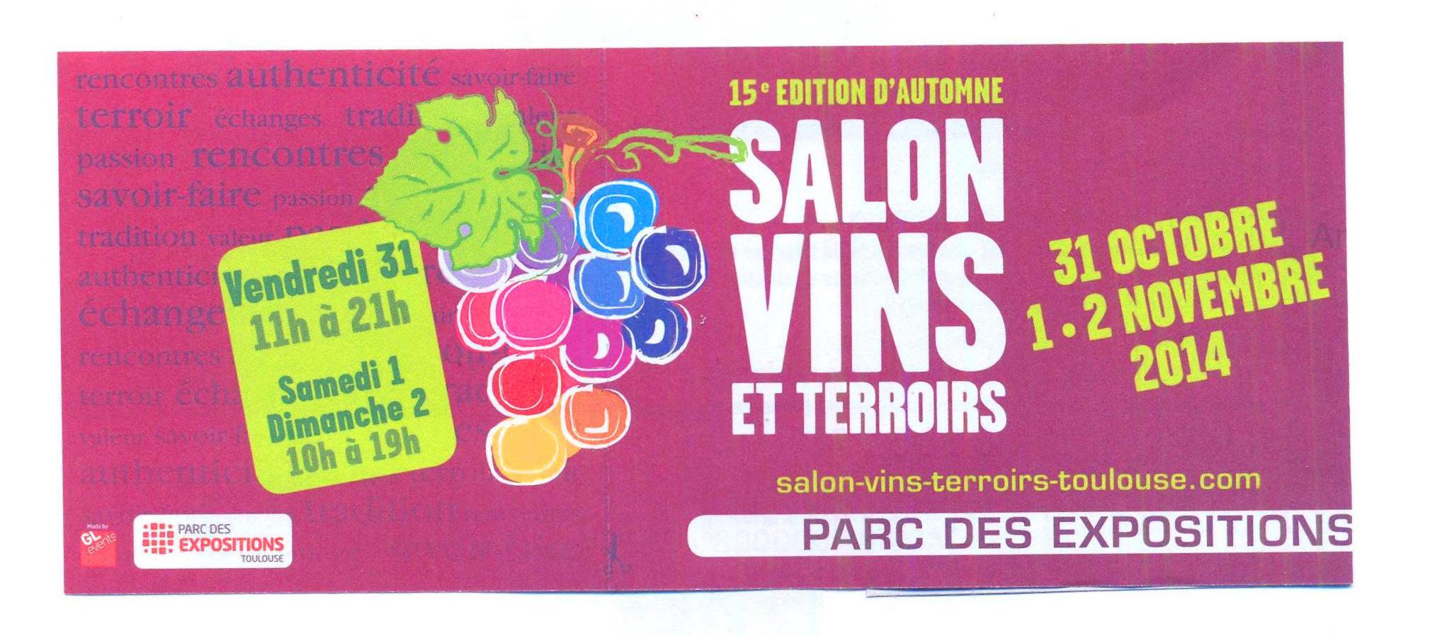 Salon vins et terroirs toulouse domainde de thulon for Salon toulouse
